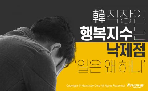 韓 직장인 행복지수는 낙제점 '일은 왜 하나'