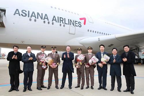 아시아나항공 'A380 6호기' 도입 완료..3년간 계획 완성