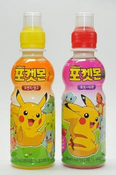 롯데칠성음료, '포켓몬스터 캐릭터' 활용한 어린이 음료 선봬