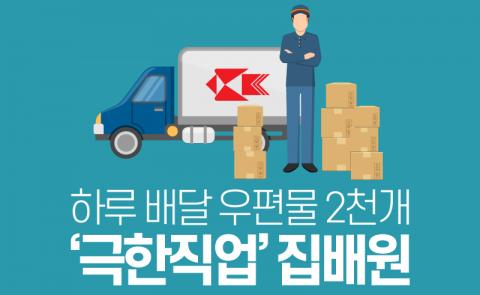 하루 배달 우편물 2천개…'극한직업' 집배원