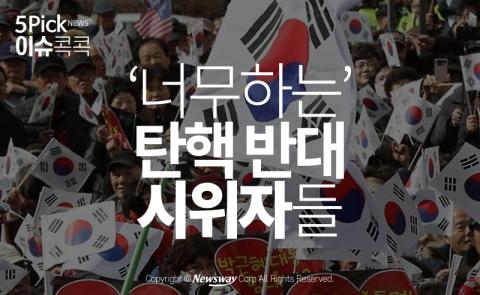 '너무하는' 탄핵 반대 시위자들