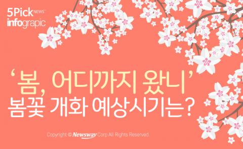 '봄, 어디까지 왔니' 봄꽃 개화 예상시기는?