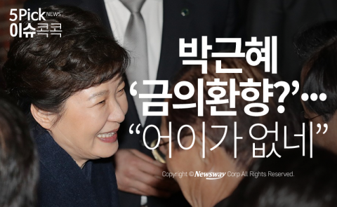 """박근혜 '금의환향?'…""""어이가 없네"""""""