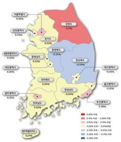 """감정원 """"아파트 매매 가격 0.02% 상승"""""""