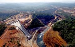 SK건설, 라오스 수력발전소 세남노이 댐 완공·담수 개시