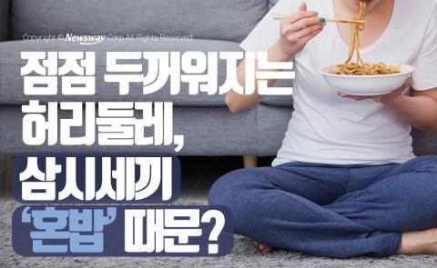 점점 두꺼워지는 허리둘레…삼시세끼 '혼밥' 때문?