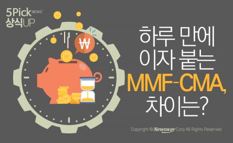하루 만에 이자 붙는 MMF·CMA, 차이는?