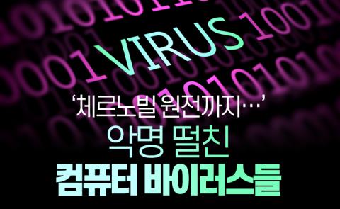 '체르노빌 원전까지…' 악명 떨친 컴퓨터 바이러스들