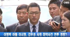 """이명박 전 대통령 아들 이시형 """"'김무성 사위 마약 사건'과 무관"""""""