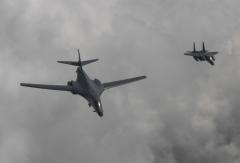 미국 폭격기 B-1B 2대, 한반도 상공서 대북 무력시위
