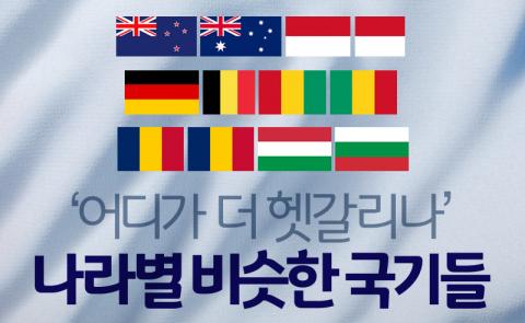 '어디가 더 헷갈리나' 나라별 비슷한 국기들