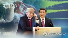"""트럼프-시진핑 전화 통화 """"북한 핵도발에 최대한 압력"""""""