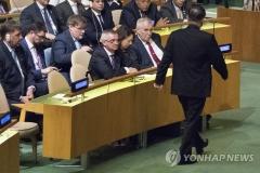 """트럼프 """"북한은 '불량국가'""""…北대사 연설 보이콧"""