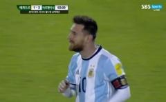 '메시 3골' 아르헨티나, 에콰도르에 3-1 역전승
