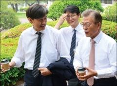 """조국 """"부산시장 출마? 문재인 대통령 보좌에 전념"""""""