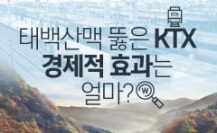 태백산맥 뚫은 KTX…경제적 효과는 얼마?