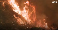 미국 캘리포니아주 LA에 초대형 산불 발화···시속 130km 강풍 타고 확산 중
