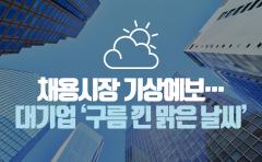 채용시장 기상예보…대기업 '구름 낀 맑은 날씨'