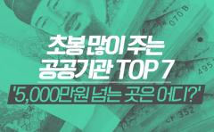 초봉 많이 주는 공공기관 TOP 7