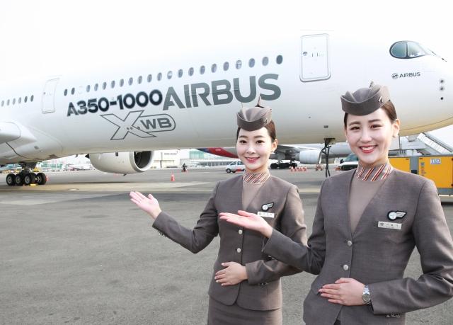 김수천 사장, 에어버스 A350-1000 시범 비행 참석