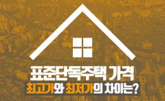 [카드뉴스]표준단독주택 가격, 최고가와 최저가의 차이는?