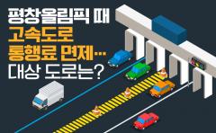 평창올림픽 때 고속도로 통행료 면제…대상 도로는?