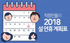 직장인들의 2018 설 연휴 계획표