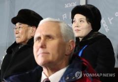 """미국 언론 """"펜스-김여정 회담, 비밀리 성사 후 북한이 취소"""""""