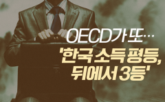 [카드뉴스]OECD가 또···'한국 소득 평등, 뒤에서 3등'