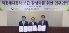 한국공항공사, 환경부와 저공해자동차 보급 활성화 업무협약