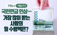 국민연금 인상…가장 많이 받는 사람의 월 수령액은?