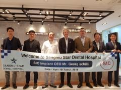 스위스 임플란트사 SIC CEO, 광주상무스타치과병원 방문