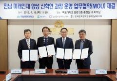 목포대, 전남 미래인재 양성 산학연 과정 운영 업무협약 체결