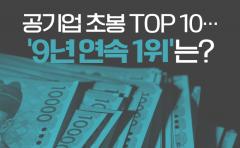 공기업 초봉 TOP 10…'9년 연속 1위'는?