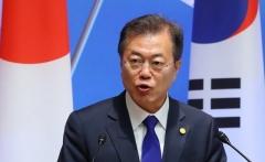韓日中비즈니스 서밋 참석한 文대통령, '동북아 번영' 기조연설