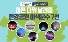[인포그래픽 뉴스]이른 더위 날려줄 한강공원 이색분수 7선