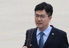 """특검에 출석한 송인배 靑비서관…""""성실히 조사에 임할 것"""""""