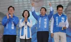 마지막 여론조사, 수도권서 與박원순·이재명·박남춘 '함박웃음'