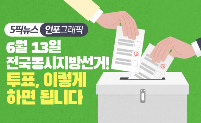 '용지 두 번 받는다' 지방선거 투표 절차 한눈에 보기