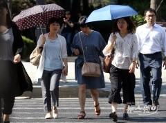 한낮 '폭염주의보', 일부지역 소나기…미세먼지 '좋음'