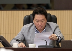 """최태원 SK회장 """"사회적가치 추구는 글로벌 표준""""…조직·제도 재설계 특명"""
