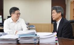 김동연, 윤종원과 첫 만남…'협업' 논의