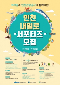 인천시-인천관광공사, 인천 `내일로` 서포터즈 모집