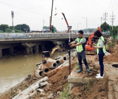 한국국토정보공사(LX), 태풍 쁘라삐룬 침수피해지역 현장조사