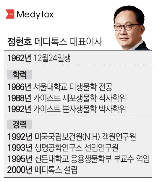 [stock&피플]정현호 메디톡스 대표, 보톡스 1위 비결은 '한 우물 경영'