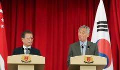 文 대통령, 싱가포르에서도 '경제 외교' 가속