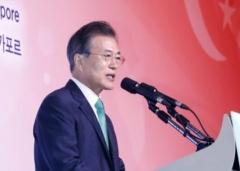 文 대통령 싱가포르 순방…경제·평화 두마리 토끼 잡아