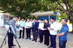 경기도의회 더불어민주당 대표단, 가축 폭염피해 농가 점검