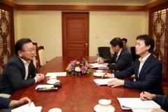 김종천 과천시장, 김부겸 행안부장관 만나 `재정안정화 대책` 마련 요청