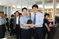 신한대 서갑원 총장, 경비ㆍ청소근로자 초청 '말복잔치' 마련